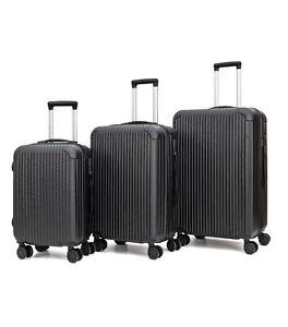 Juego-3-Maletas-de-Viaje-Set-Trolley-ABS-Semirigidas-Candado-4-Ruedas-Negro