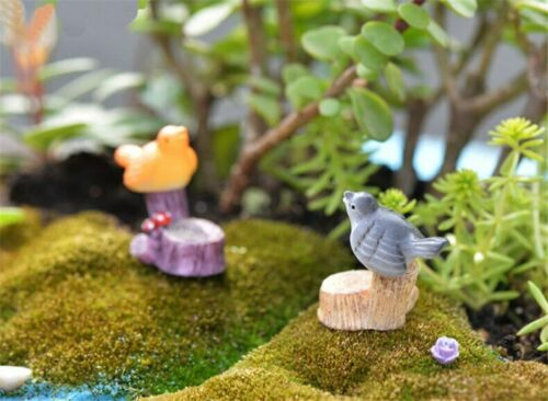Figurines Cute Miniature Bird Resin 4PCS Magpie Simulation Mini Dollhouse