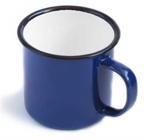 Enamel Mug Cup 6 8 9 10 12 cm White Blue Camping Home Picnic Tea Coffee Pannikin