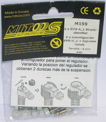 Mitoos M159 Ammortizzatore Regolabile Vite Snodo Evo 2 Per Assi 2 Pezzi