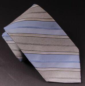 "Kleidung & Accessoires Neu Brooks Brothers Makers And Merchants Grau/blau Streifen 3.75 "" Breit Herren-accessoires"