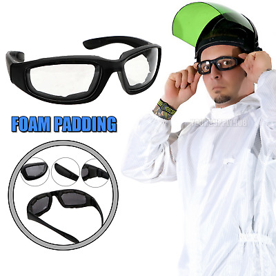 CLEAR Safety Glasses with Foam Padding Anti Splash Droplet Spray Eye Cover