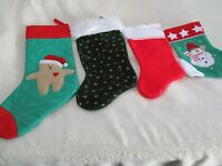 Lot Of 4 Assorted Christmas Stockings