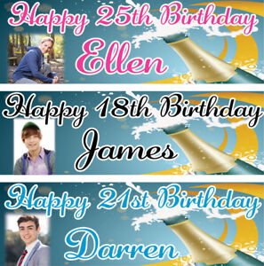 2-Personalised-Birthday-banner-Photo-Adult-Champaign-Party-Poster-21st-18th-50th