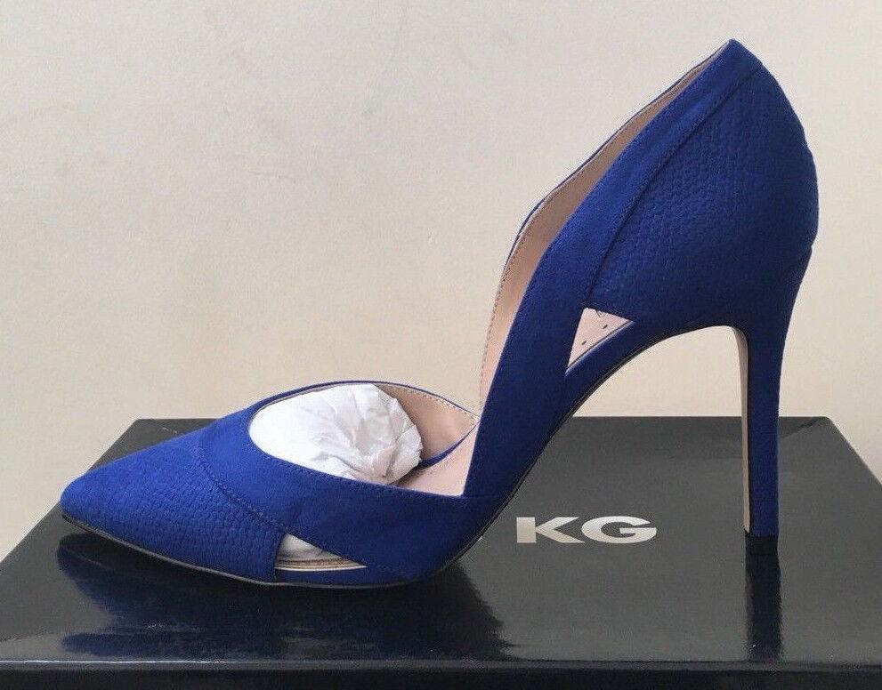 KURT GEIGER Miss Miss Miss KG Blau Ceile High Heel Court schuhe Größe 4 37 8ff2ed