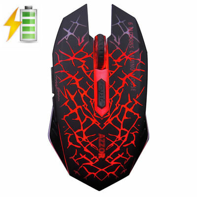 2.4GHz Wireless Rechargeable Silent 2400DPI LED Backlit Optical Usb Gaming Mouse