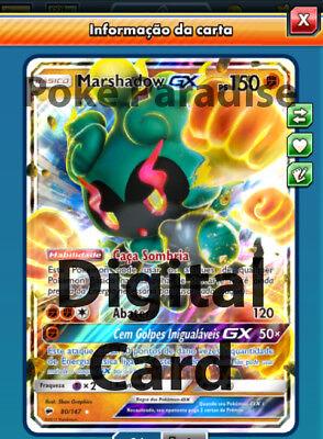 PTCGO Digital Card !! Marshadow GX 80//147 Pokemon TCG Online !
