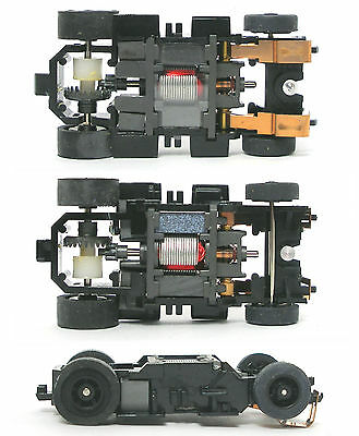 TYCO 440-X2 TURBO TRAIN Slot Car Chassis TUCK UNDER BODY WHEELS Axle Gear /&TIRES