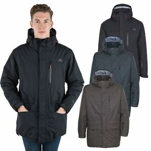 Trespass-Stonegate-Mens-Waterproof-Jacket-with-Hood-in-Khaki-amp-Black