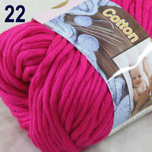 SALE-1-Skein-X50g-Soft-Warm-Cotton-Baby-Hand-Knitting-New-Yarn-22