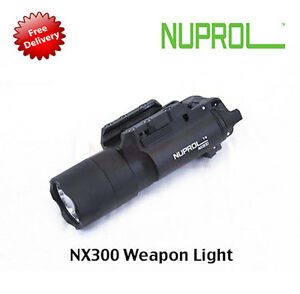 New-NUPROL-WE-NX300-Weapon-Mounted-Light-Airsoft-Torch-300-Lumen-Output
