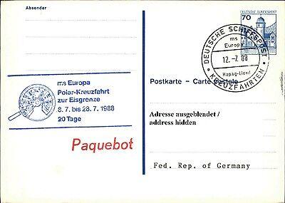 Herrlich Schiffspost Stempel Ship Ms Europa Cancel Paquebot Polar-kreuzfahrt Z Eisgrenze Briefmarken