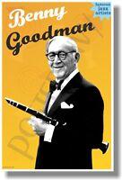 Benny Goodman - Famous Jazz Artists - Music Poster (mu087)