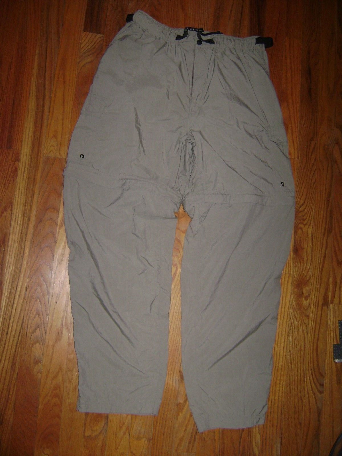 REI Pants Mens Size L Green Nylon Zip Off Congreenible Shorts Cargo Hike Camp