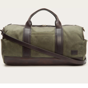 Image is loading NWT-Frye-Carter-Duffel-Waxed-Military-Canvas-Overnight- b0dae108e838d