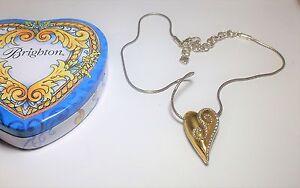 Brighton-Puffy-Heart-Reversible-Silver-Gold-Swarovski-Crystal-Necklace-Tin