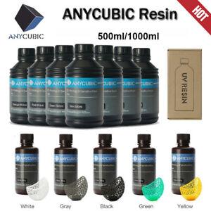 Anycubic 500ml/1L UV résine pour Photon S Mono X Imprimante 3D Gris blanc Noir