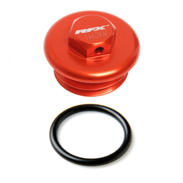 RFX Oil Filler Cap Plug fits KTM SX-F 250 350 450 505 98-20 Orange Billet Alloy