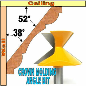 """1 pc 1/2"""" Shank Crown Molding Angle 52°/38° Router Bit S"""
