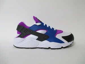 new arrival 8f36e bd3ca Image is loading Nike-Air-Huarache-Blue-Jay-White-Hyper-Violet-