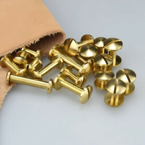 20pcs-Solid-Brass-Binding-Chicago-Screws-Nail-Stud-Rivets-Leather-Craft-Handwork