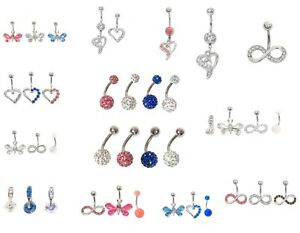 Belly-bars-bar-navel-ring-body-sets-single-piercing-surgical-steel-ferido-316L