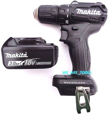 """New Makita 18V XFD11 Brushless 1/2"""" Compact Drill Driver, (1) BL1830 Battery LXT"""
