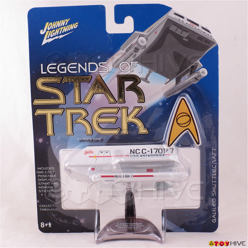 Leyendas de Estrella Trek Johnny Lightning blanco Lightning Galileo transbordador s1