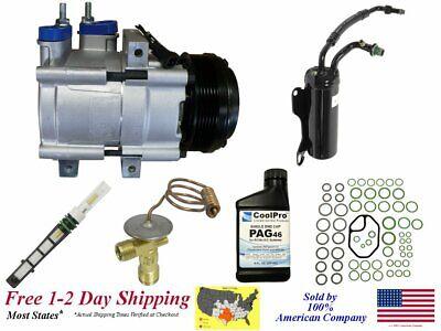 A/C AC Compressor Kit for 2007-2014 E-150 E-250 (4.6L, 5 ...