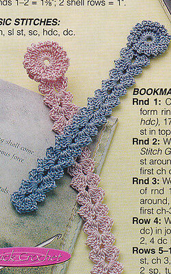 Crochet Pattern ~ SHELL BOOKMARKS ~ Instructions