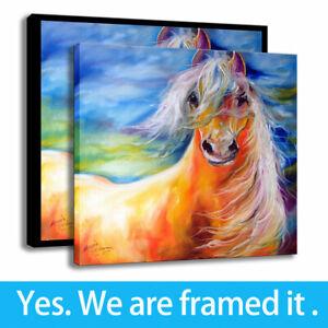 Marcia-Baldwin-Art-Print-Canvas-Painting-Bright-Day-Equine-Wall-Decor-12x12