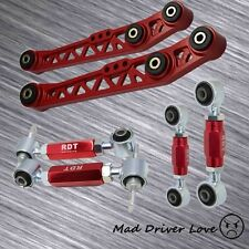FOR 90-01 ACURA INTEGRA DC REAR LOWER CONTROL ARM CAMBER + TOE SUSPESION KIT RED