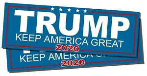 Two-Pack-Trump-Keep-America-Great-2020-President-Decal-Bumper-Sticker-Donald