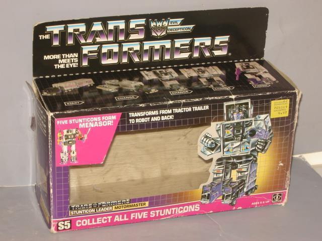 G1 TRANSFORMER DECEPTICON SieASOR MOTORMASTER EMPTY BOX LOT   1