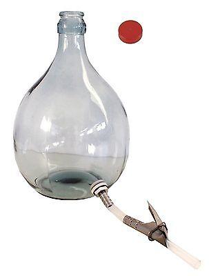 Glasballon Weinballon Gärballon Bierballon  5 L Ablassgarnitur Holzgestell