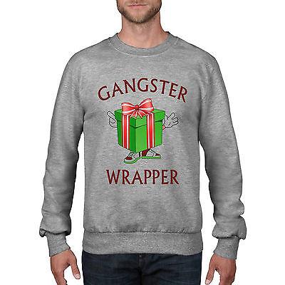 Gangster Wrapper Funny Christmas Present Jumper Rap Sweatshirt Dope Festive Ch36 Ein Unbestimmt Neues Erscheinungsbild GewäHrleisten