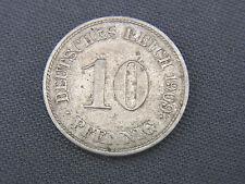 Münze 10 Pfennig Deutsches Reich 1909 J