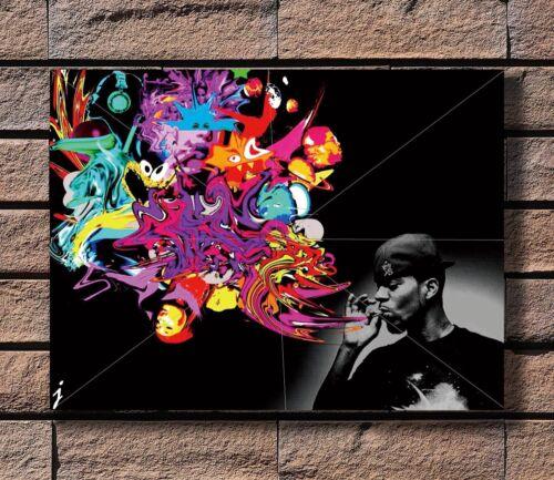 s-Kid Cudi Poster Fabric 8x12 20x30 24x36 E-563