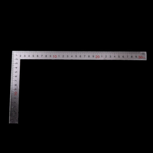 Stainless Steel 15x30cm 90 Degree Angle Metric Try Mitre Square Ruler Scale CBB