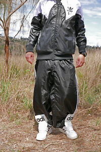 49e57fa7a903 Image is loading Adidas-Shiny-Nylon-Tracksuit-Pants-Unlined-Bottoms-Cal-