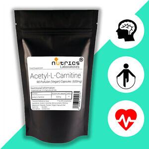 NUTRICS-Acetil-L-Carnitina-ALCAR-forte-630mg-x-90-Vegano-Capsule-non-Tablet