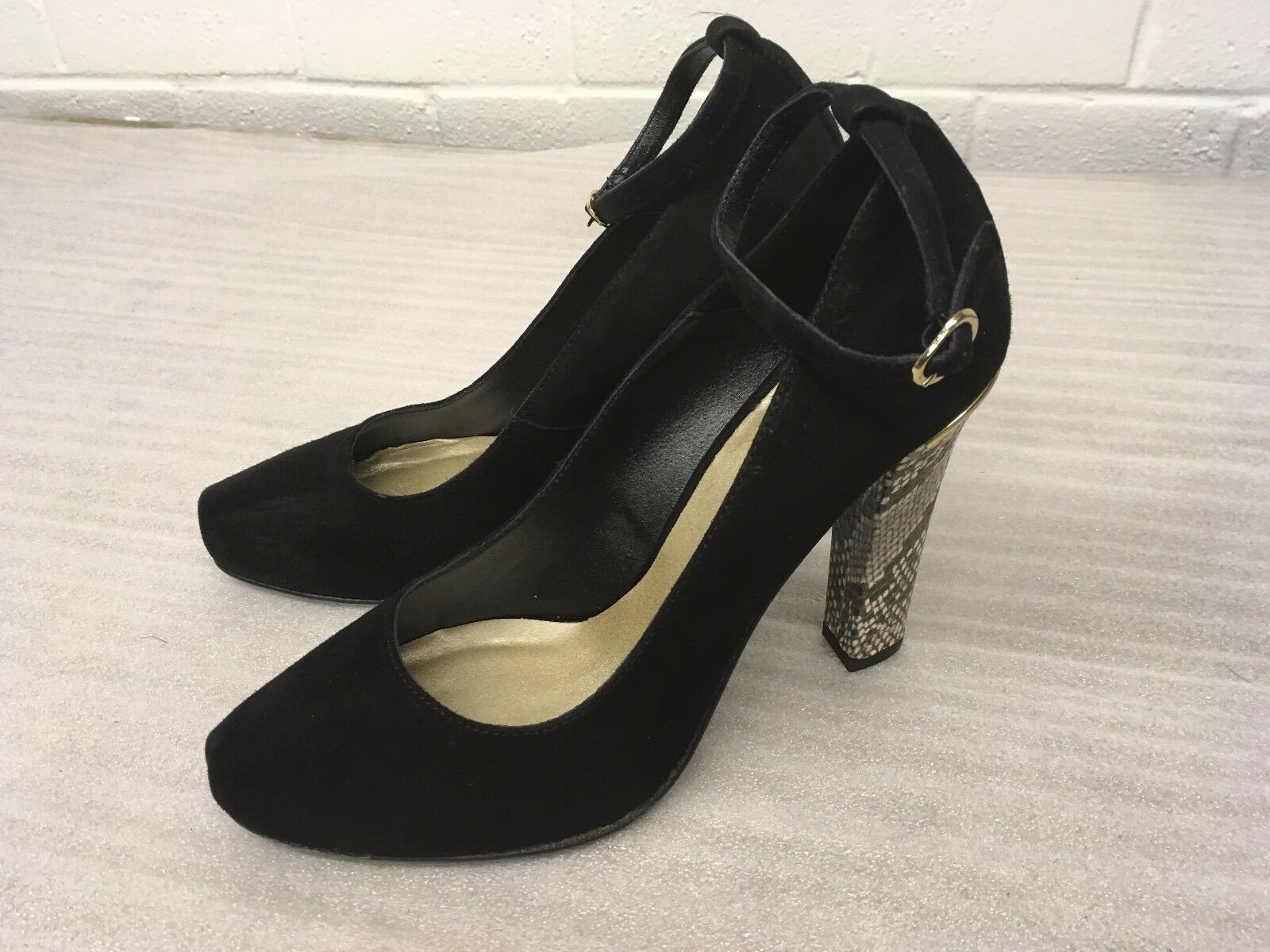 SOMERSET BY ALICE TEMPERLEY WISTERIA 7 BLACK SUEDE SHOES SIZE 7 WISTERIA 40 NEW RRP  R8 2bd2ee