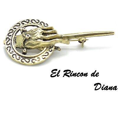 7.5cm Reino Unido Vendedor Grande Juego de Tronos Mano del Rey Broche Pin Insignia réplica