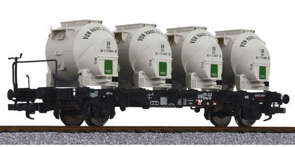 LILIPUT H0 – 235125 – PIANALE BTMS55 c/SERBATOI x CEUomoTO – DB – Ep. III