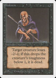 Weakness Unlimited NM-M Black Common MAGIC THE GATHERING MTG CARD ABUGames