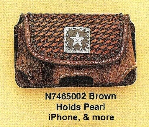 sale retailer 950c6 5c45e iPhone Case Belt Clip Western Tooled Leather- Hair-on