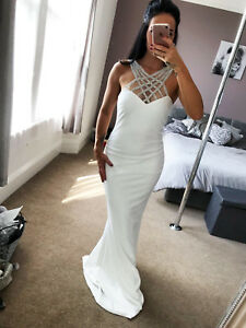 New-Quiz-Ivory-Embellished-Bridal-Dress-Maxi-Plus-Sizes-Womens-UK-RRP-79-99