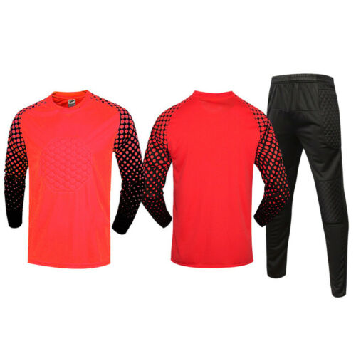 Football goalkeeper suit Kids//Adult long sleeved trousers outdoor sportswear Set