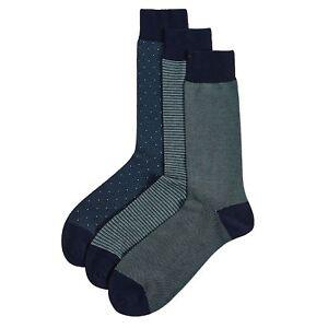 Ex-M-amp-S-Paquete-De-3-pares-de-calcetines-de-algodon-egipcio-de-lujo-Premium-RRP-15