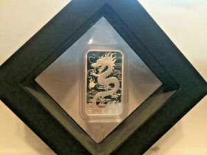 2018-1-OZ-9999-Perth-Mint-Silver-Proof-Dragon-Bar-In-Latex-Case-with-COA